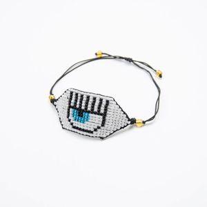 Miyuki Bracelet Mauvais Œil Bijoux Cristal Noir Pulseras Evil Eye Bracelets Femmes