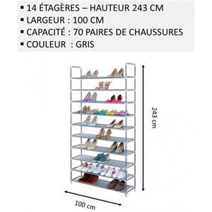 MEUBLE ÉTAGÈRE Meuble Chaussures,No46, Modulable 2 14 Étagères (1