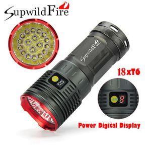 LAMPE DE POCHE Supwildfire 18 x XM-L T6 LED de puissance numériqu