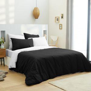 HOUSSE DE COUETTE SEULE Pack complet 6 pièces Noir/Blanc housse de couette