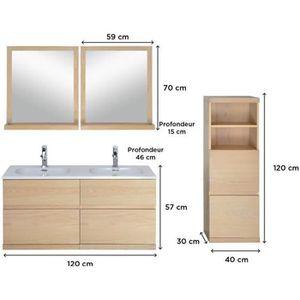 SALLE DE BAIN COMPLETE Salle de bain complete chêne 120 cm meuble + vasqu