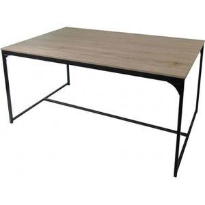 TABLE À MANGER SEULE Table Salle à Manger en Bois et Métal Style Indust