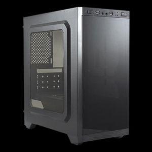 BOITIER PC  UNYKAch Armor C21, Tour, PC, SPCC, Micro-ATX, Noir