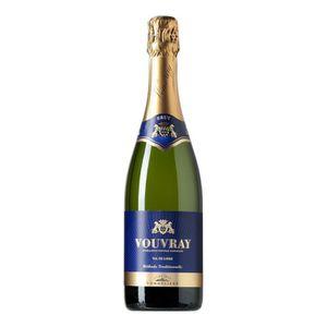 VIN BLANC BRUT Vouvray Vin de la Loire - Blanc - 75 cl - Clu