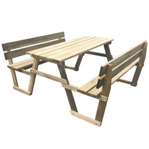 Grande table de jardin en bois