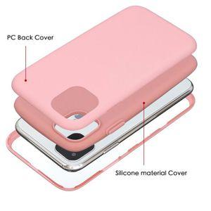 COQUE - BUMPER Coque iPhone 11,Rose Ultra Slim 3 en 1 Rigide PC A