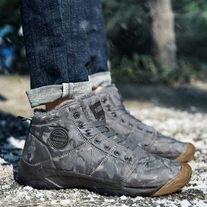 CHAUSSURES DE SKI Velvet Camouflage Mode plus hommes chaud Outdoor A