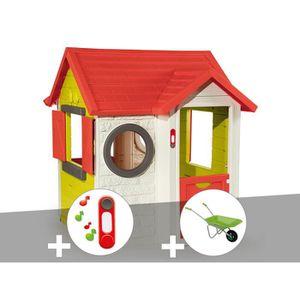 MAISONNETTE EXTÉRIEURE Cabane enfant My House - Smoby + Sonnette + Brouet