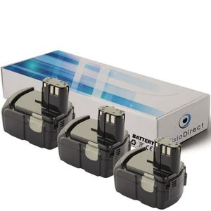 BATTERIE MACHINE OUTIL Lot de 3 batteries pour Hitachi DS18DL perceuse 30