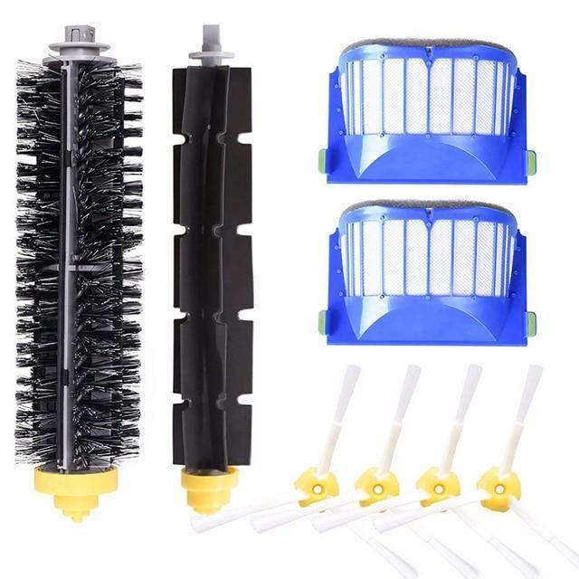 Filtre à Air HEPA pour aspirateur iRobot Roomba, pièces détachées, brosse principale, brosse latérale, 600 61