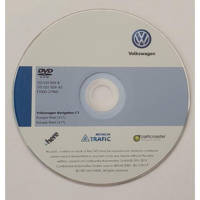 DVD Original GPS Europe V17 - 2020 - RNS 510 - RNS 810 - Volkswagen - SEAT - SKODA