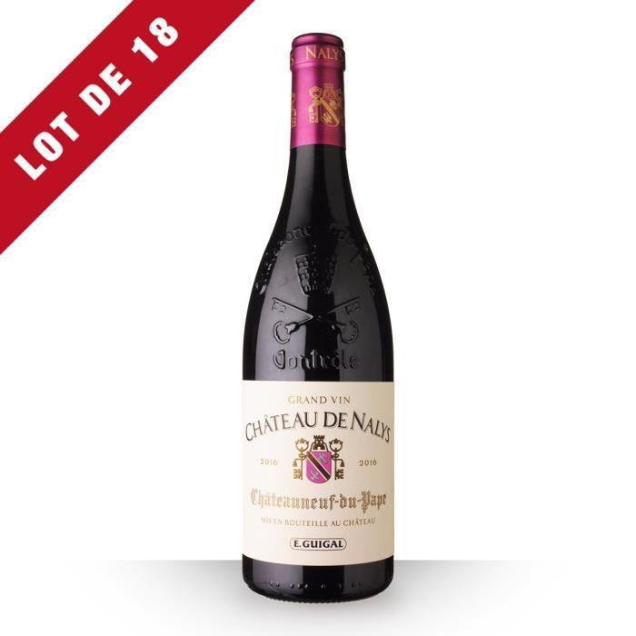 Lot de 18 - Château de Nalys 2016 AOC Châteauneuf-du-Pape - 18x75cl - Vin Rouge