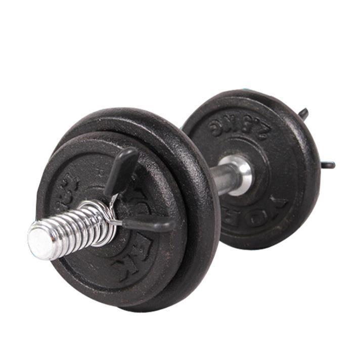 2 Pcs 25mm Barbell Gym Poids Barre D'haltère Serrage Pince Printemps Collar Clips