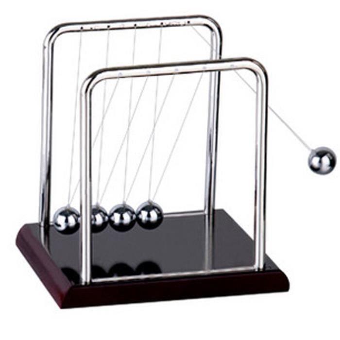 Newtons – boule d'équilibre en acier pour enfants, décor de Table, pendule en métal, accessoire physique, jeu [47109B0]