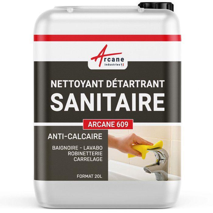 Nettoyant Détartrant Sanitaire - Transparente - Liquide - 20 L