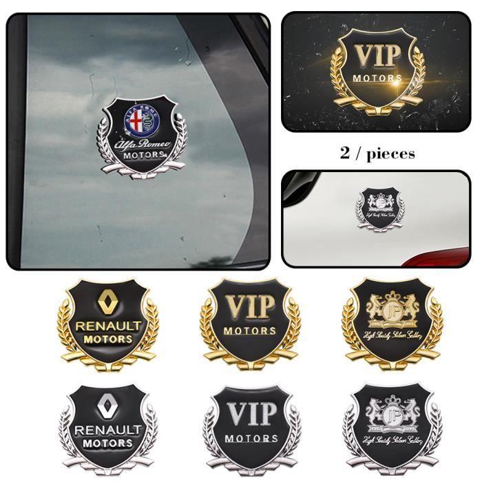 2 pièces 3D métal voiture style côté porte Badge autocollants fenêtre latérale emblème décalco - Modèle: Or For Audi - ANQCCTB04976