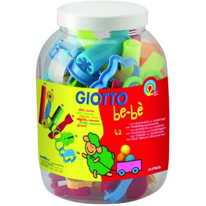 Pâte à modeler Giotto Be de bè 4647 00 – Emporte-pièces, Couleurs Assorties 56156