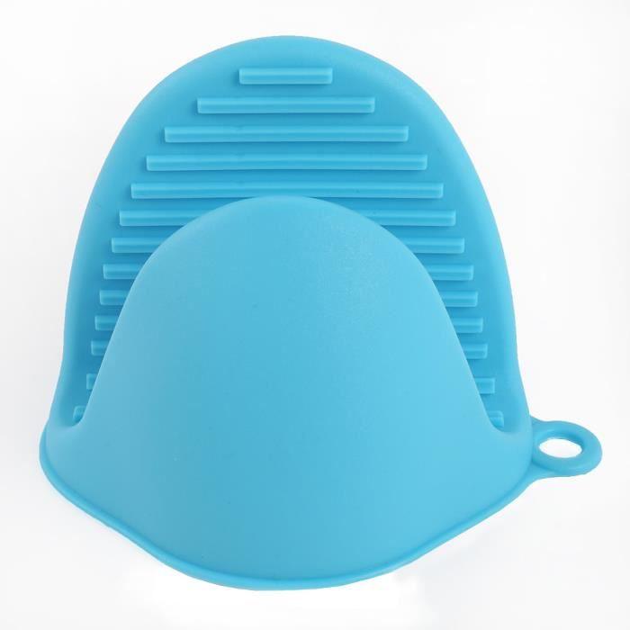 Mitaines de cuisson résistant à la chaleur 2 pièces Mini four en Silicone porte Pot pinces de cuisson pour la - Type 2PCS Blue
