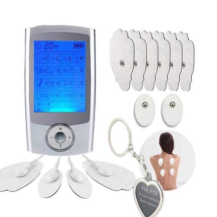 Électrostimulateur TENS , Massage Electrode et Electro Stimulation, pour Le Dos, Le Traitement du Cou,soulager avec 16 Modes, A61992