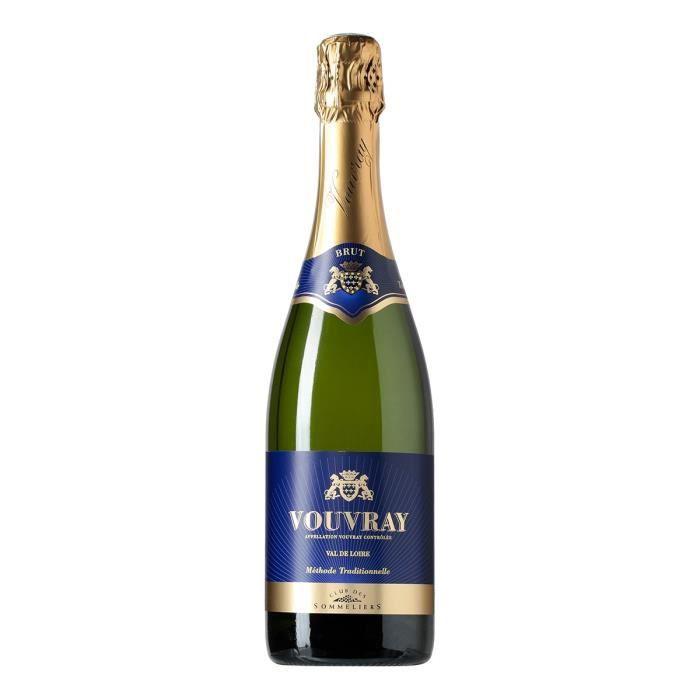 BRUT Vouvray Vin de la Loire - Blanc - 75 cl - Club des sommeliers