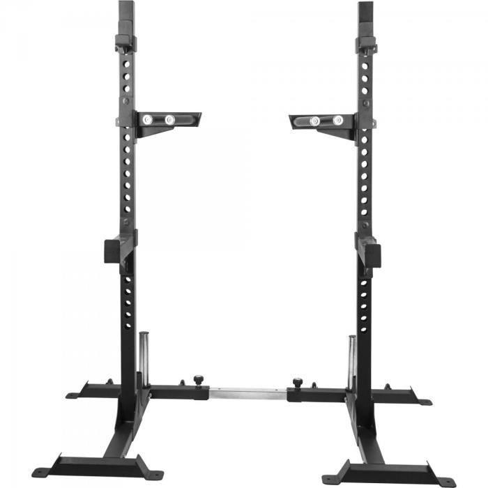 Gorilla Sports - Rack à squat avec support pour poids disques