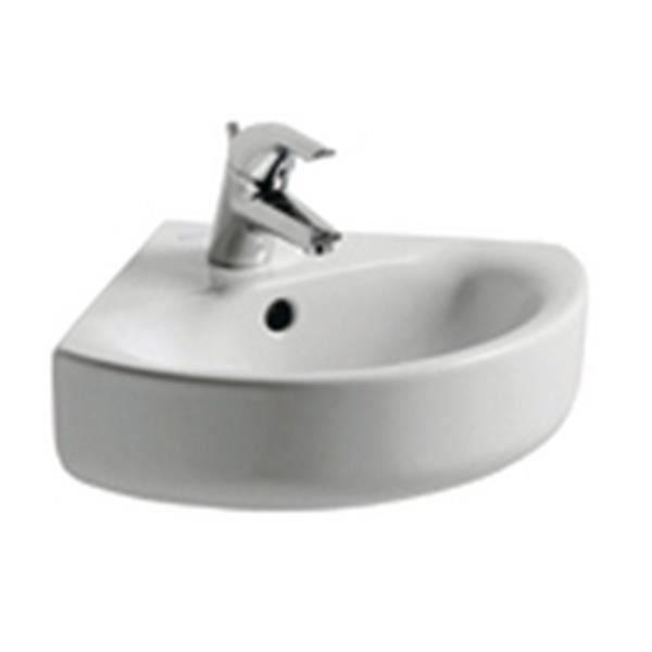 Ideal standard Lave-mains d angle CONNECT ARC 34x34x18cm en grès. blanc Réf E713601