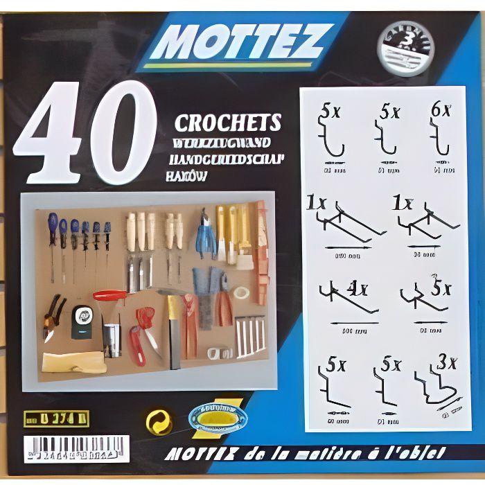 Lot de 40 crochets universels Mottez B274B