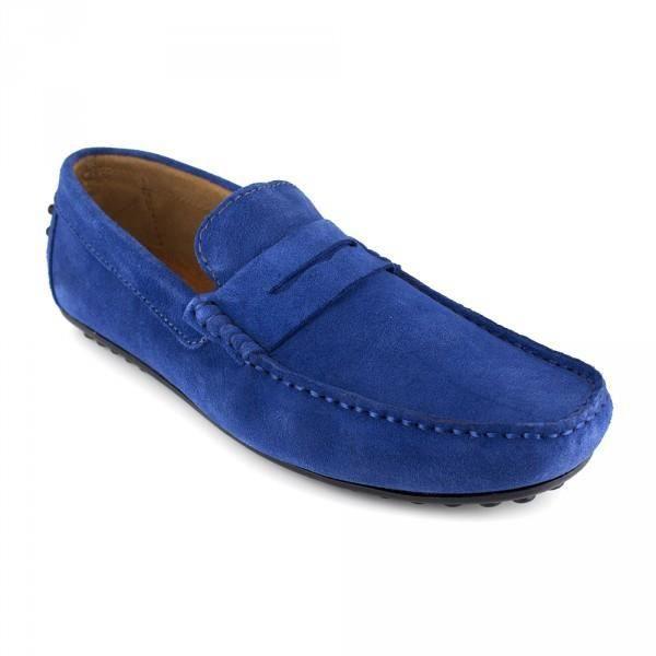 Mocassin J.Bradford Cuir bleu JB-AITOR - Couleur - Bleu
