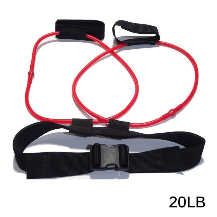Bandes De Résistance Réglable 20Lb Ceinture Pédale Exerciseur Femmes Butin Butt Band Gluteus Muscle Workout Free Bag - Rouge