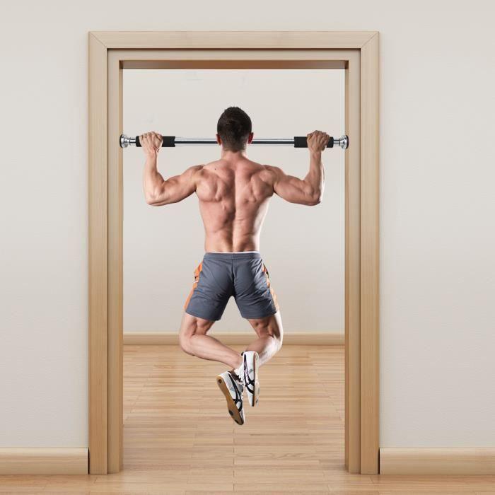OneTwoFit Barre de traction de Fitness Barre d'Exercices ( 60 à 100 cm de Longueur Réglable) OT037