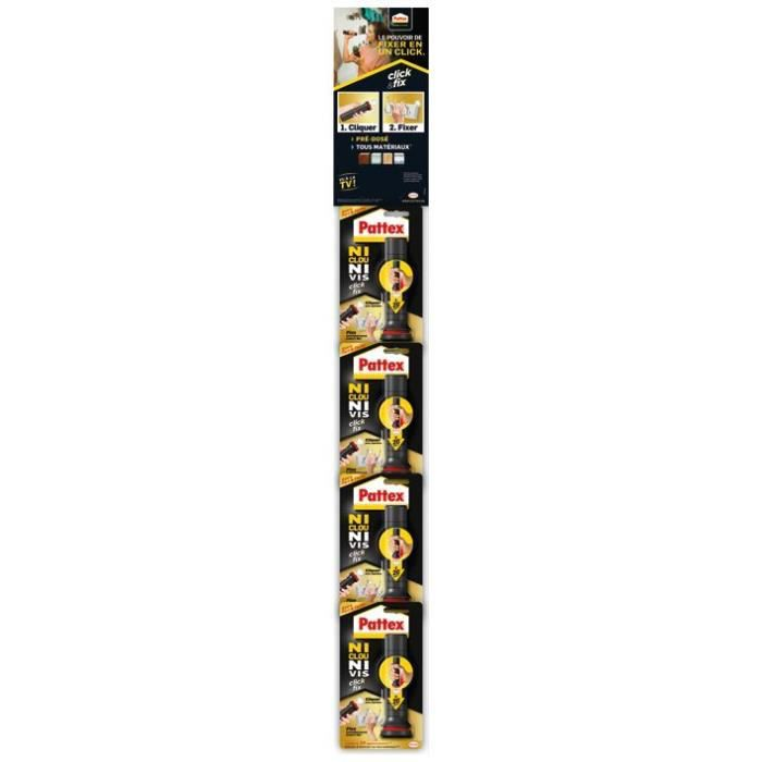PATTEX Colle fixation Click and Fix - 24x 30 g