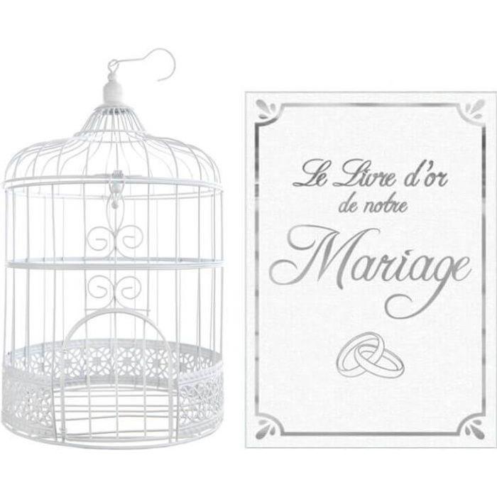 R/3871-LDORM- 1 Pack livre d'or et urne mariage blanc et argent