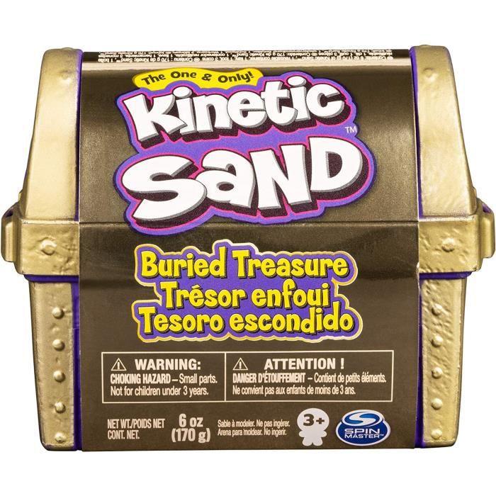 Kit de jeu de sable cinétique, de trésor enfoui avec 170 g de sable cinétique et outil caché surprise