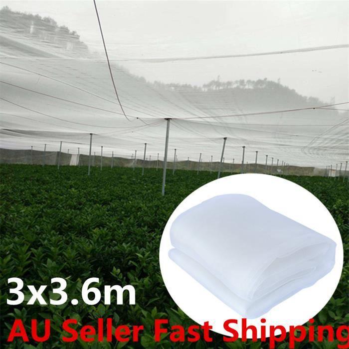 NREFU 3X3.6M Filet Mousseline Anti-oiseaux Protection Moustiquaire Blanc Anti Oiseau Insecte Protection Légume