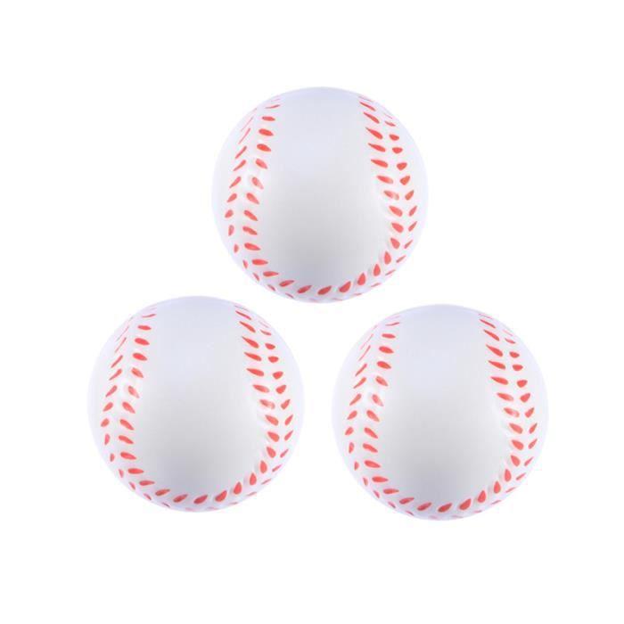 3 pièces créatif doux faveur jouets presser des balles de baseball en mousse Mini de sport pour soulager le MINI CAGE - MINI BUT