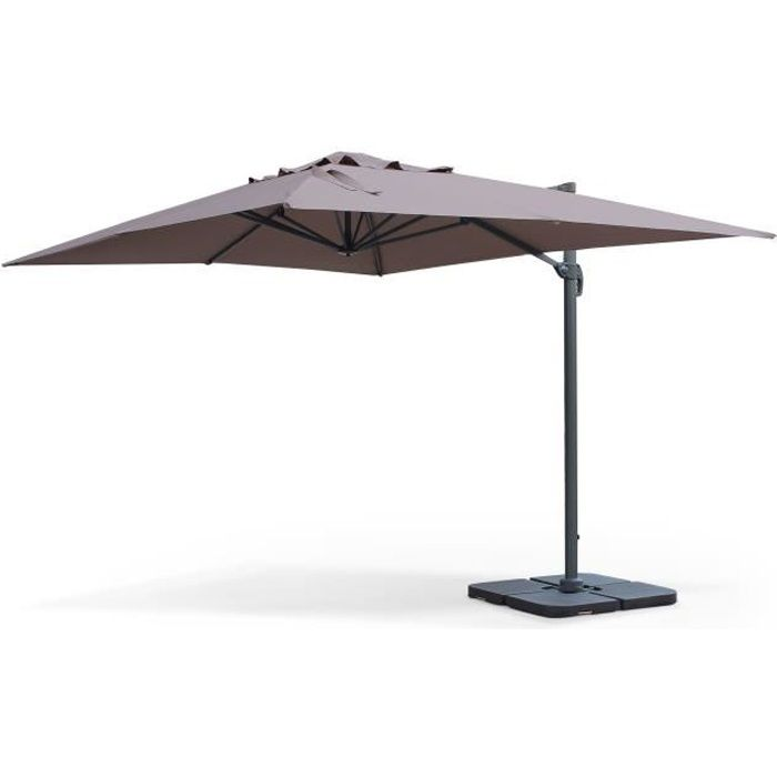 st jean de luz parasol d port 3x4m taupe achat vente parasol parasol 3x4m st jean de luz. Black Bedroom Furniture Sets. Home Design Ideas