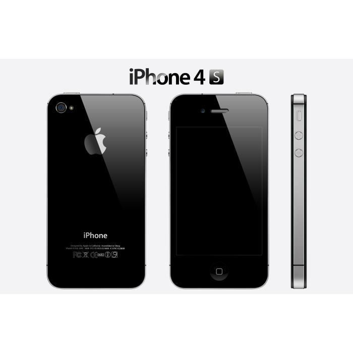 iphone 4s noir 16go boite noirigine achat smartphone. Black Bedroom Furniture Sets. Home Design Ideas
