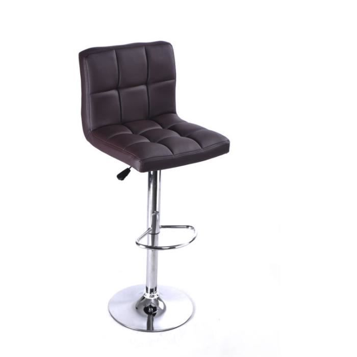 tabouret de bar carreaux sans accoudoir chaise fauteuil pivotant brun achat vente tabouret. Black Bedroom Furniture Sets. Home Design Ideas