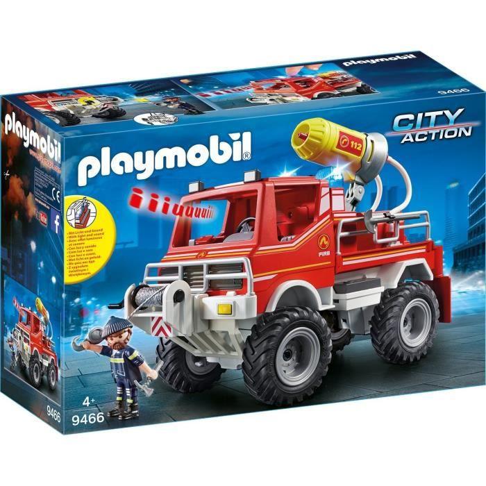 Photo de playmobil-9466-city-action-4x4-de-pompier-avec-lance-eau