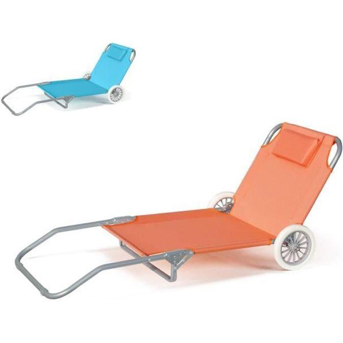 Lit De Plage Pliant Bain De Soleil Transat Piscine Portable Roues Banana Couleur Orange Achat Vente Chaise Longue Lit De Plage Pliant Bain De So Cdiscount
