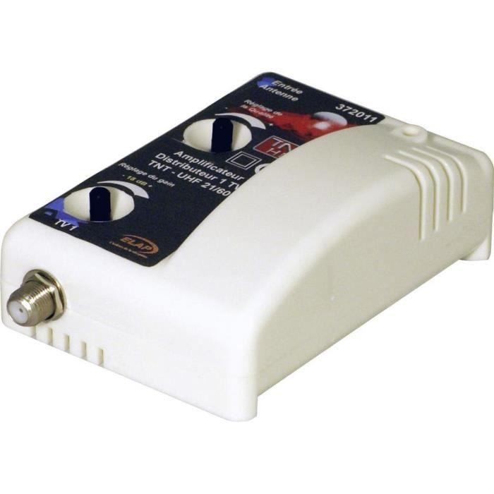 REPETEUR DE SIGNAL Amplificateur TNT UHF Elap 4G 1 entrée 1 sortie -