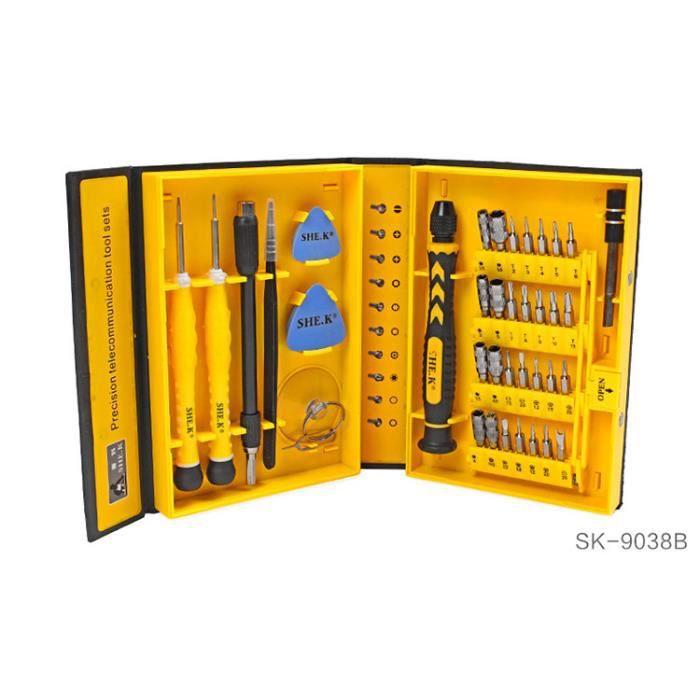 Boîte à outils Kit Tournevis de précision professionnel de réparation 30 Pièces