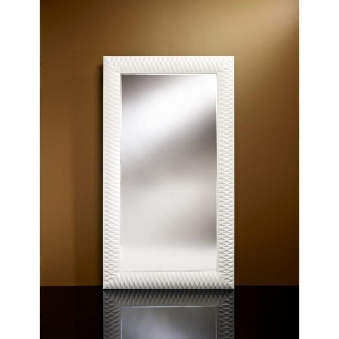 Hall grand miroir mural finition blanche achat vente for Miroir des 7 astres