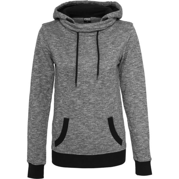 e378e51252 Urban Classics Femme - HIGH NECK Sweat à capuche n Noir - Achat ...