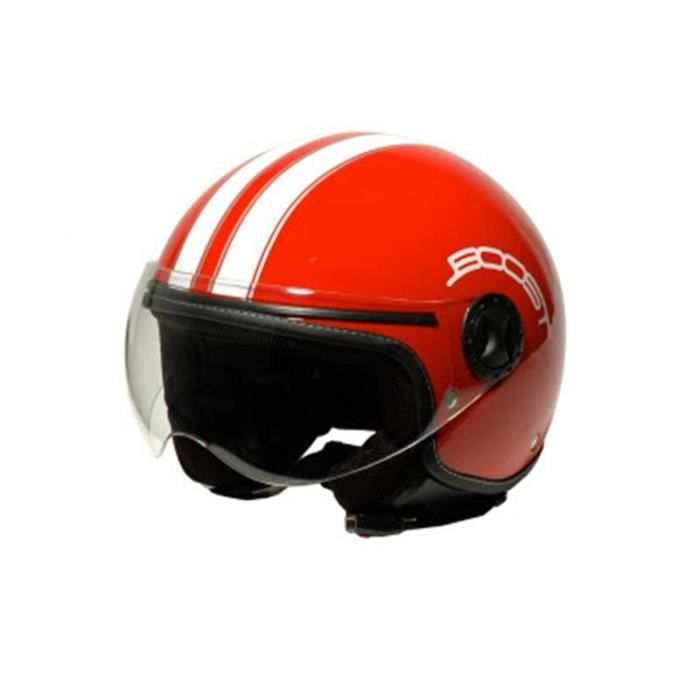 casque moto boost retro 2 rouge blanc achat vente. Black Bedroom Furniture Sets. Home Design Ideas