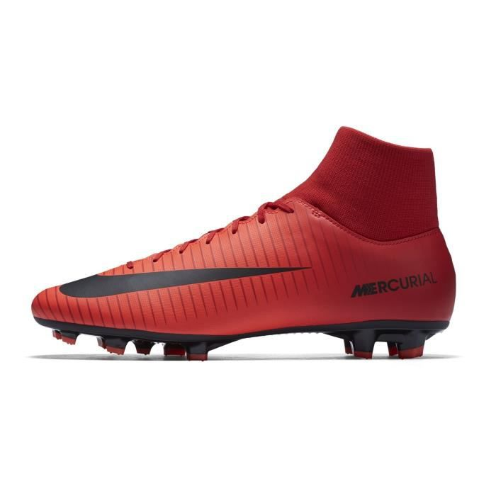 Chaussures football Nike Mercurial Victory VI DF FG Rouge