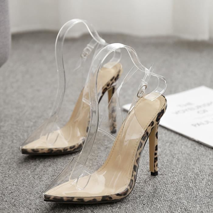 Zebra Pattern sling back Chaussures à talon haut
