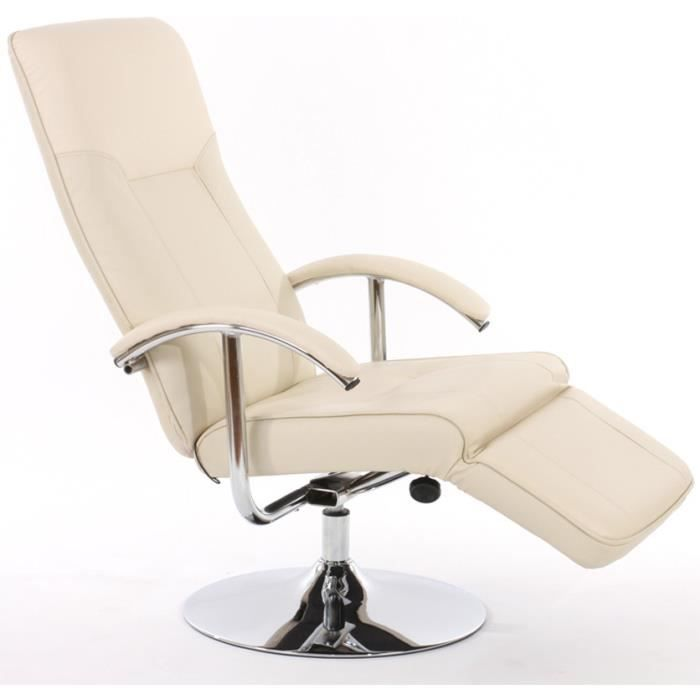 Chaise inclinable apia ii polyur thane cr me achat for Chaise inclinable