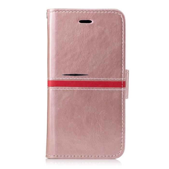 Housse etui cuir pour samsung galaxy a3 2017 or rose for Housse samsung galaxy a3