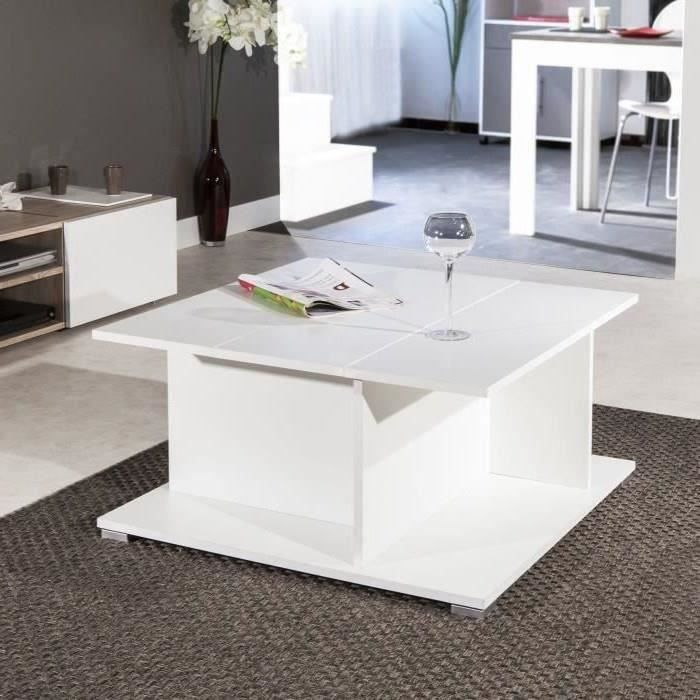 Cosmo table basse blanc avec rangement achat vente table basse cosmo tabl - Table de salon avec rangement ...